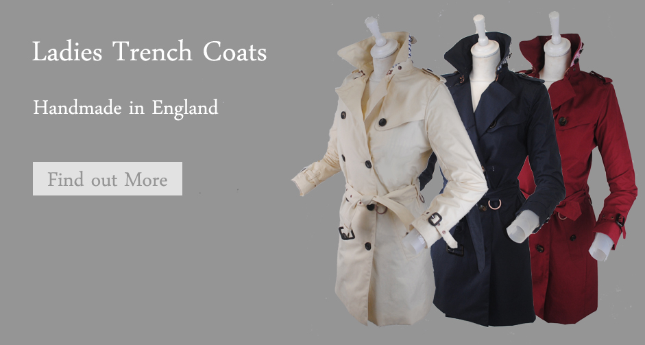 Ladies Trench Coats Made in England